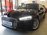 USED 2017 67 AUDI A5 SPORTBACK 2.0 TDI SE 5d AUTO 150 S/S £1725 OF OPTIONAL EXTRAS, BALANCE OF AUDI WARRANTY, FULL AUDI HISTORY, UPGRADE REAR VIEW CAMERA, UPGRADE ELECTRIC FRONT SEATS WITH DRIVER MEMORY, UPGRADE 4 WAY LUMBAR SUPPORT, UPGRADE ELECTRIC FOLDING HEATED DOOR MIRRORS, FRONT & REAR PARKING SENSORS WITH DISPLAY, FULL LEATHER INTERIOR, HEATED FRONT SEATS, XENON HEADLIGHTS WITH LED DAYTIME RUNNING LIGHTS, AUDI SMARTPHONE FOR APPLE CAR PLAY OR ANDROID AUTO FOR SAT NAV, AUDI CONNECT, CRUISE CONTROL WITH SPEED LIMITER, ELECTRIC TAILGATE, DAB, B/T