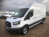 USED 2017 67 FORD TRANSIT 2.0 350 L3 H3 P/V DRW 129 BHP 37000 MILES  * ONE OWNER FROM NEW * EURO6