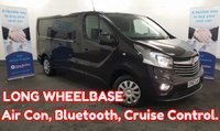 2017 VAUXHALL VIVARO 1.6 2900 SPORTIVE CDTI 120 BHP  LONG WHEELBASE, Air Con, Cruise Control, Bluetooth, Rear Parking Sensors, Ply-Lined and much more..... £11980.00