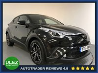 USED 2017 17 TOYOTA CHR 1.2 EXCEL 5d 114 BHP FULL TOYOTA HISTORY - 1 OWNER - SAT NAV - PARKING SENSORS - CAMERA - HALF LEATHER - AIR CON - BLUETOOTH - DAB - PRIVACY