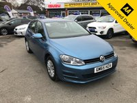 2015 VOLKSWAGEN GOLF 1.2 S TSI BLUEMOTION TECHNOLOGY 5d 85 BHP IN METALLIC BLUE WITH 31,000 MILES AND A FULL SERVICE HISTORY ULEZ COMPLAINT £8799.00
