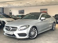"USED 2015 65 MERCEDES-BENZ C CLASS 2.1 C 220 D AMG LINE PREMIUM 2d 168 BHP PAN ROOF+19 ""ALLOYS+R-CAM+FSH"