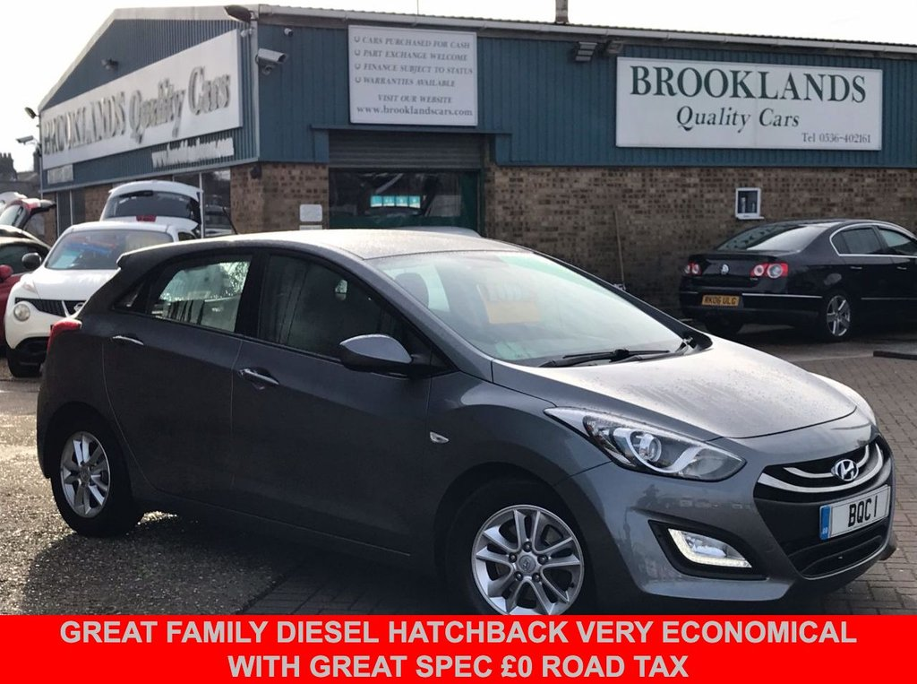 USED 2012 12 HYUNDAI I30 1.6 ACTIVE BLUE DRIVE CRDI  5 Door Steel Grey Metallic 109 BHP Great Family Diesel Hatchback Very Economical with Great Spec £0 Road Tax