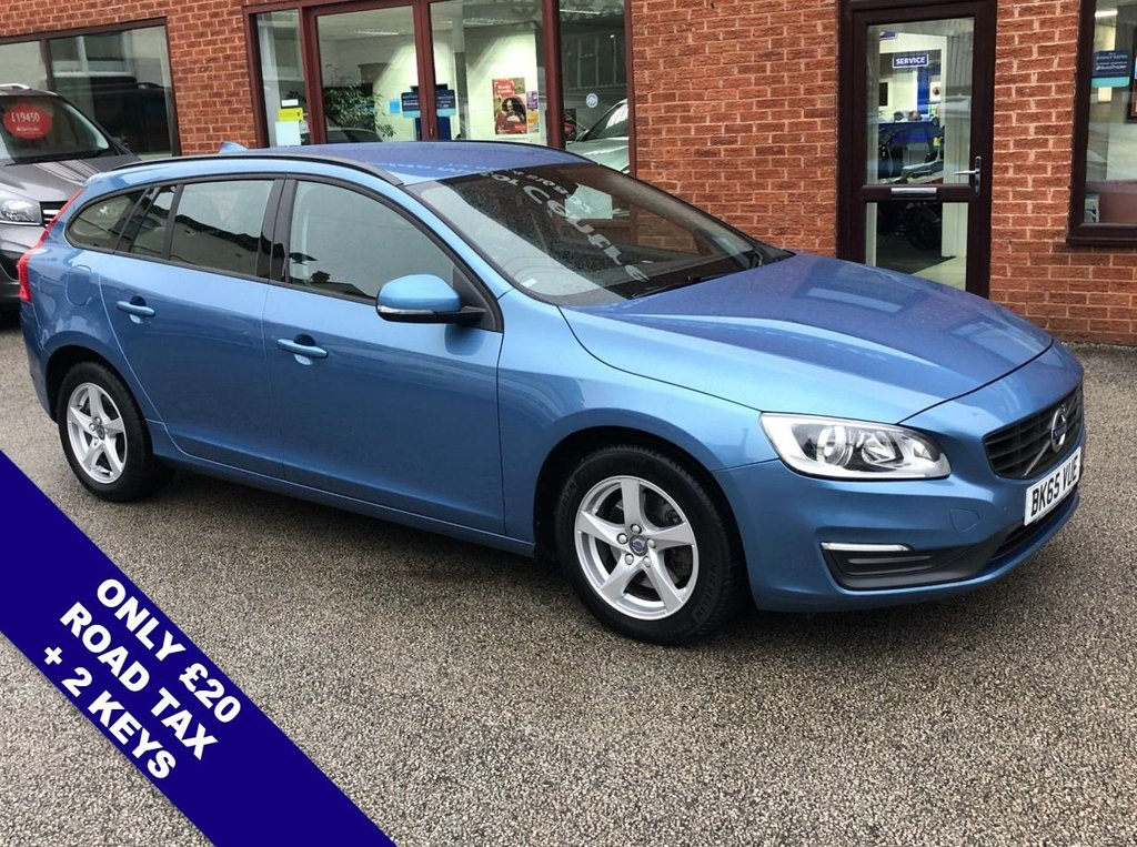 """USED 2015 65 VOLVO V60 2.0 D4 BUSINESS EDITION 5d 188 BHP ONLY £20 Road Tax     :     DAB Radio     :    Satellite Navigation     :     USB & AUX Sockets      Car Hotspot / WiFi   :   Cruise Control / Speed Limiter   :   Phone Bluetooth Connectivity       Rear Parking Sensors   :   16"""" Alloy Wheels   :   Full Volvo Service History"""