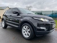 2012 LAND ROVER RANGE ROVER EVOQUE 2.2 SD4 PURE awd 4x4 black/black leather low miles  £15994.00