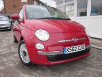 USED 2013 53 FIAT 500 1.2 LOUNGE 3d 69 BHP