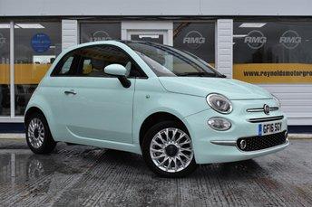 2016 FIAT 500 1.2 LOUNGE 3d 69 BHP £7499.00