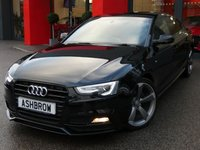 USED 2015 65 AUDI A5 SPORTBACK 2.0 TDI BLACK EDITION PLUS 5d 190 S/S UPGRADE AUDI EXCLUSIVE LINE FINE NAPPA BLACK OUTER+ ALABASTER WHITE INNER & PIPING 2 TONE LEATHER  SPORTS SEATS, UPGRADE CONVENIENCE PACK (INC ELEC FRONT SEATS W/ DRIVER'S MEMORY, 4 WAY LUMBAR SUPPORT + ELEC POWER FOLD AUTO DIM HEATED DOOR MIRRORS W/ KERB VIEW), UPGRADE HIGH BEAM ASSIST, UPGRADE 19 INCH ROTORS, UPGRADE UPGRADE 3 SPOKE SPORTS LEATHER MULTI FUNCTION STEERING WHEEL, UPGRADE CD CHANGER, ADAPTIVE XENONS W/ LED DRL, MMI NAV PLUS, HEATED FRONT SEATS, BANG & OLUFSEN SOUND SYSTEM, VAT Q.