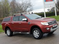 USED 2012 62 FORD RANGER 2.2 LIMITED 4X4 DCB TDCI 4d 148 BHP