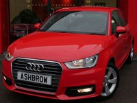 USED 2015 65 AUDI A1 SPORTBACK 1.6 TDI SPORT 5d 115 S/S £1385 OF OPTIONAL EXTRAS, £0 ROAD TAX (92 G/KM), UPGRADE COMFORT PACK INCLUDING REAR PARKING SENSORS CRUISE CONTROL AUTO DIMMING REAR VIEW MIRROR LIGHT & RAIN SENSORS WITH HIGH BEAM ASSIST & WINDSCREEN SUNBAND, DAB RADIO, BLUETOOTH PHONE & MUSIC STREAMING, AUDI MUSIC INTERFACE (AMI), DRIVE SELECT, FRONT FOG LIGHTS, GREY TORNADO CLOTH INTERIOR, SPORT SEATS, LEATHER MULTIFUNCTION STEERING WHEEL, AIR CONDITIONING, CD & SD CARD READER, TYRE PRESSURE MONITORING SYSTEM, ELECTRIC WINDOWS, SERVICE HIST