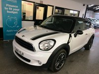 USED 2015 65 MINI PACEMAN 1.6 COOPER 3d 122 BHP One gentleman owner, full Mini service history, supplied with 12 months Mot. Finished in Light White with Black Bonnet stripes, mirror caps & roof