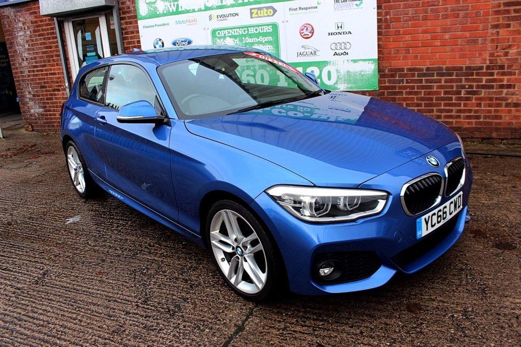USED 2016 66 BMW 1 SERIES 1.5 116D M SPORT 3d 114 BHP +ONE OWNER +LOW TAX +SAT NAV.