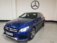 USED 2017 17 MERCEDES-BENZ C CLASS 2.1 C 220 D AMG LINE 4d 170 BHP 1 Owner/Heated Leather/Sat-Nav/Camera/Parking Sensors