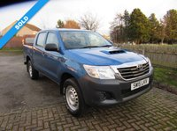 USED 2015 15 TOYOTA HI-LUX 2.5 ACTIVE 4X4 D-4D DCB 142 BHP GOOD VALUE £ 11695 PLUS VAT