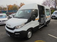 USED 2015 65 IVECO DAILY 7 SEAT MESS / WALFARE VAN MEDUIM WHEEL BASE 2.3 35S13V 130 BHP NEW SHAPE, TABLES / SINKS / MIROWAVE / FITTED TOILET UNIT / REVERSE CAMREA, FINANCE AVAILABLE  IVECO DAILY 7 SEAT MESS / WALFARE VAN
