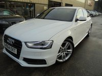USED 2015 64 AUDI A4 1.8 TFSI S LINE S/S 4d 118 BHP Excellent Condition, Part Exchange Welcomed, Low Rate Finance Arranged