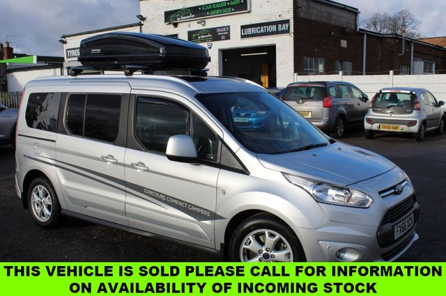 USED 2016 66 FORD GRAND TOURNEO CONNECT 1.5 TITANIUM TDCI 5d 118 BHP CONCOURS COMPACT CAMPERS VIEW AND RESERVE ONLINE OR CALL 01527-853940 FOR MORE INFO.