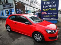2013 VOLKSWAGEN POLO 1.2 S 3d 60 BHP, only 54000 miles £4995.00