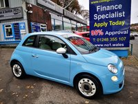 2013 FIAT 500 1.2 COLOUR THERAPY 3d 69 BHP, only 19000 miles £5495.00