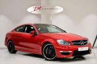 USED 2013 13 MERCEDES-BENZ C CLASS 6.2 C63 AMG 2d 457 BHP VERY RARE FIRE OPAL  JUST SERVICED AT MERCEDES