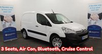 2016 CITROEN BERLINGO 1.6 625 ENTERPRISE  HDI . Air Con, 3 Seats, Bluetooth, Rear Parking Sensors, and more.... £6680.00