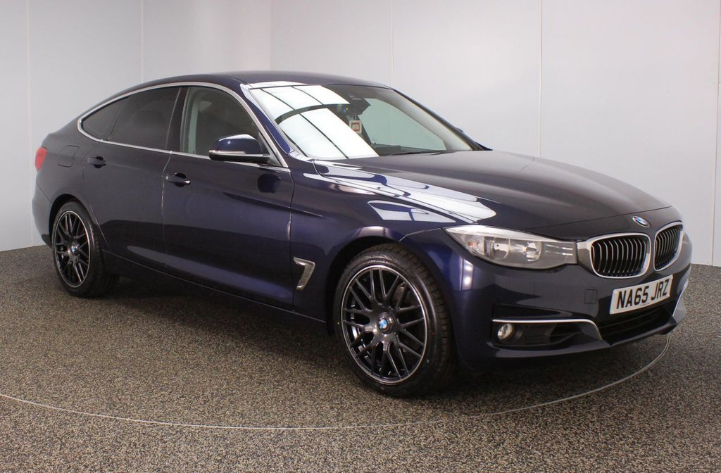 USED 2015 65 BMW 3 SERIES GRAN TURISMO 2.0 320I LUXURY GRAN TURISMO  FREE 1 YEARS WARRANTY + PRO NAV FULL BMW SERVICE HISTORY + HEATED FRONT/REAR LEATHER SEATS + SATELLITE NAVIGATION PROFESSIONAL + PARKING SENSOR + BLUETOOTH + CRUISE CONTROL + CLIMATE CONTROL + DAB RADIO + PRIVACY GLASS + ELECTRIC REAR BOOT + ELECTRIC WINDOWS + ELECTRIC DOOR MIRRORS + BRAND NEW 19 INCH ALLOY WHEELS