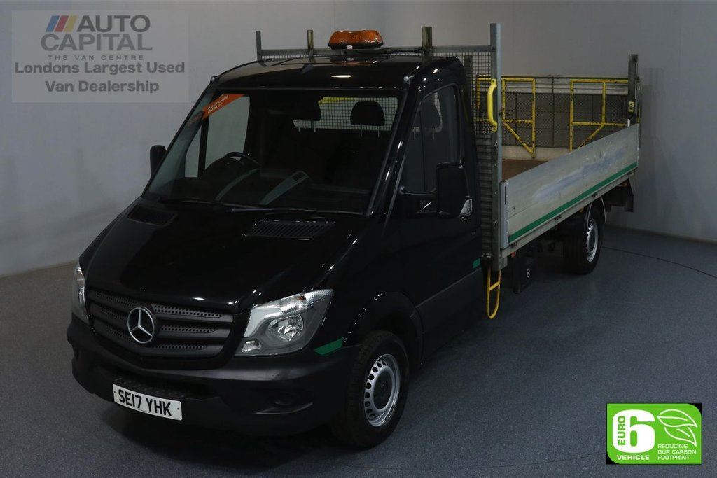 USED 2017 17 MERCEDES-BENZ SPRINTER 2.1 314CDI RWD 140 BHP LWB EURO 6 ENGINE DROPSIDE REAR TAIL LIFT FITTED