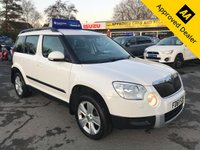 2012 SKODA YETI 1.2 SE TSI DSG 5d 103 BHP IN METALLIC WHITE WITH 88,000 MILES AND A FULL SERVICE HISTORY! £5999.00