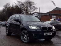 USED 2012 12 BMW X5 3.0 XDRIVE30D M SPORT 5d 241 BHP NAVIGATION SYSTEM * BLUETOOTH * MEDIA PACK * DAB RADIO * LEATHER TRIM * 20 INCH ALLOYS * 1 OWNER FROM NEW *
