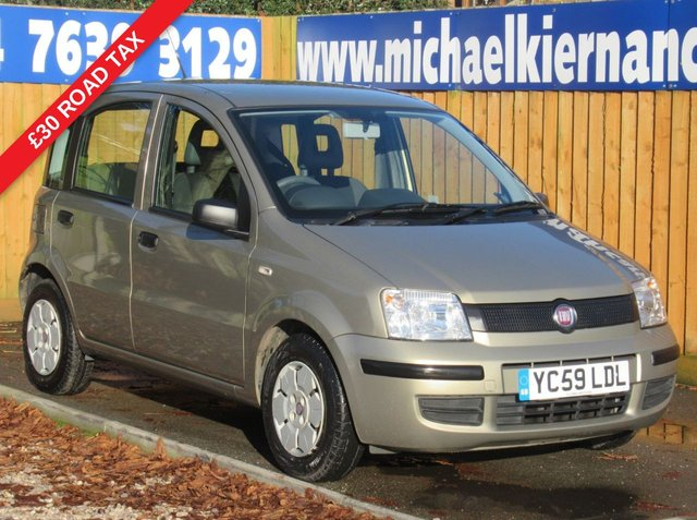 USED 2009 59 FIAT PANDA 1.1 ACTIVE ECO 5d 54 BHP FSH, £30 TAX, LOW MILES