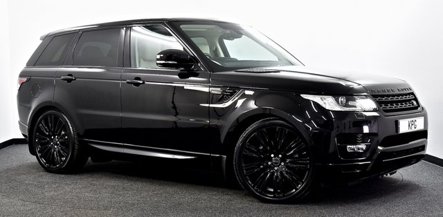 "USED 2016 66 LAND ROVER RANGE ROVER SPORT 3.0 SD V6 HSE 4X4 (s/s) 5dr Black Pack, Pan Roof, 22""s ++"