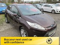 USED 2009 09 FORD FIESTA 1.2 ZETEC 5d 81 BHP LOW MILEAGE SERVICE HISTORY