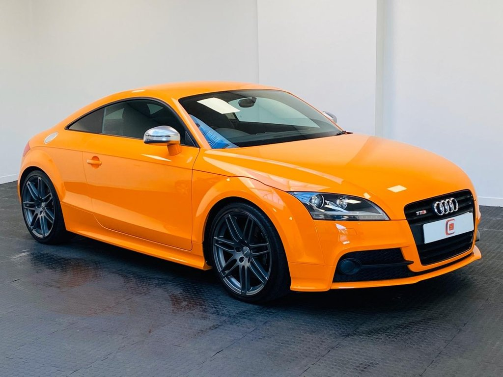 USED 2011 61 AUDI TTS 2.0 TFSI QUATTRO S LINE BLACK EDITION 2d 268 BHP RARE SOLAR ORANGE WITH ONLY 26,000 MILES FORM NEW!!
