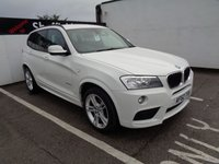 USED 2012 62 BMW X3 2.0 XDRIVE20D M SPORT 5d 181 BHP 4X4 AWD 4WD AWD Satellite navigation leather trim parking sensors privacy glass dealer service history
