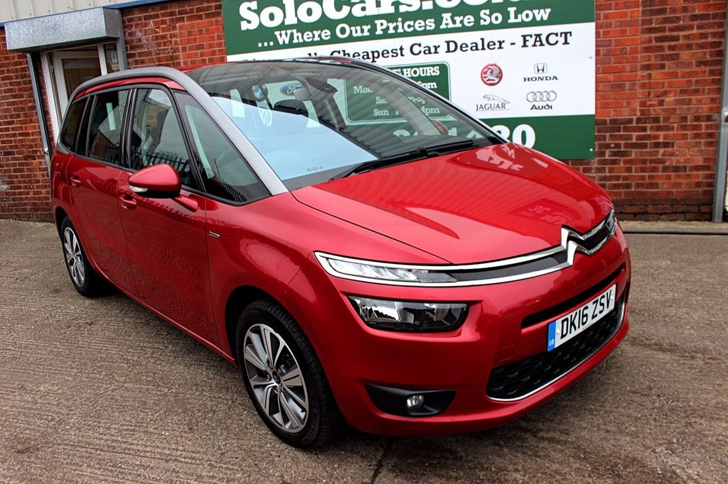 USED 2016 16 CITROEN C4 GRAND PICASSO 1.6 BLUEHDI EXCLUSIVE 5d 118 BHP +ONE OWNER +LOW TAX +SAT NAV.