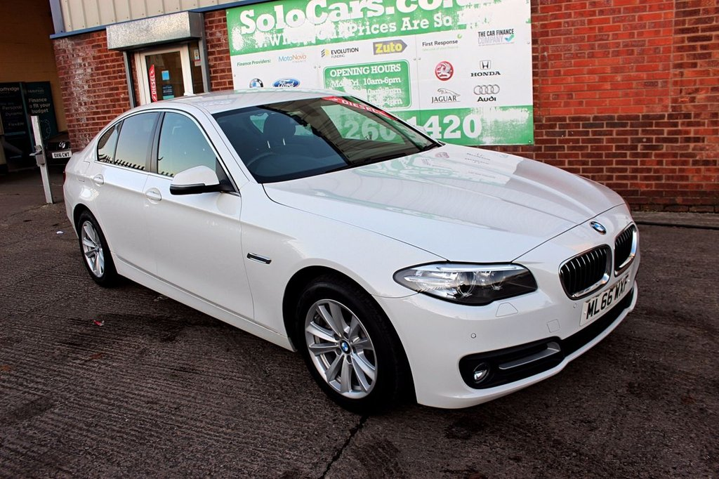 USED 2016 66 BMW 5 SERIES 2.0 520D SE 4d AUTO 188 BHP +AUTOMATIC +LEATHER +SAT NAV.