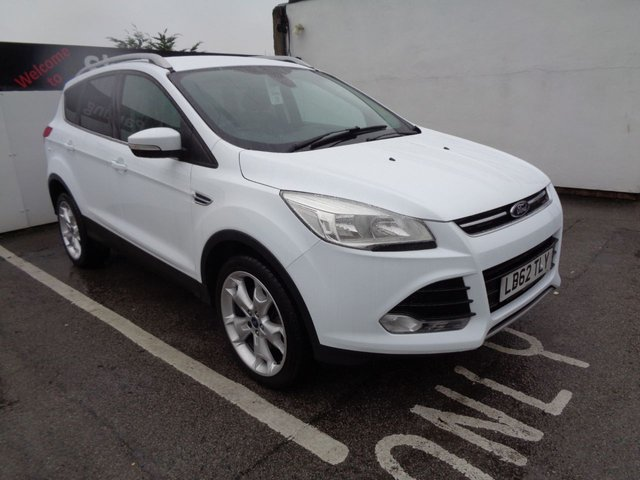 """USED 2013 62 FORD KUGA 2.0 TITANIUM TDCI 5d 160 BHP 4X4 AWD 4WD Half leather seats 19"""" alloy wheels climate control privacy glass parking sensors sought after colour"""