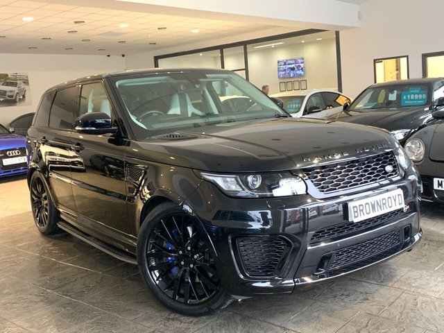 USED 2015 65 LAND ROVER RANGE ROVER SPORT Land Rover Range Rover Sport svr 5.0 V8 S/C 5dr PAN ROOF+LOW MILES+SERVICE PK