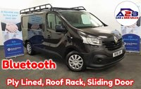 2016 RENAULT TRAFIC 1.6 DCi SL27 BUSINESS ENERGY 120 BHP in Black with Bluetooth, Rhino Roof Rack, 3 Seats, Ply Lined and more £8480.00