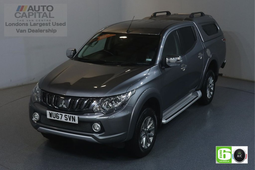 USED 2017 67 MITSUBISHI L200 2.4 DI-D 4WD BARBARIAN DCB 178 BHP EURO 6 ENGINE AIR CON, SAT NAV,  LEATHER SEATS, KEYLESS, HEATED FRONT SEATS