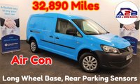 2013 VOLKSWAGEN CADDY MAXI 1.6 TDI 101 BHP Long Wheel Base in Blue, Low Mileage (32,890), One Company Owner from New (Ex British Gas), Air Conditioning and more £6480.00