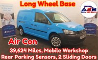 2013 VOLKSWAGEN CADDY MAXI 1.6 C20 TDI 101 BHP Long Wheel Base in Blue, Low Mileage (39,624), One Company Owner from New (Ex British Gas), Air Conditioning, Rear Parking Sensors and More £6480.00
