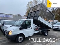 2014 FORD TRANSIT Cage Tipper 2.2 TDCi 350 Twin Wheel 124 BHP £9995.00