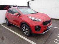 USED 2017 17 KIA SPORTAGE 2.0 CRDI GT-LINE S 5d 182 BHP 4X4 AWD 4WD INFRA RED Satellite navigation bluetooth half leather seats heated front reverse camera privacy glass parking sensors pan roof