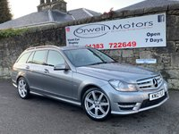 USED 2012 12 MERCEDES-BENZ C CLASS 2.1 C200 CDI BLUEEFFICIENCY SPORT 5d 135 BHP FINANCE AVAILABLE+CRUISE CONTROL+POWER TAILGATE+HALF LEATHER INTERIOR