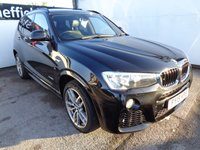 USED 2015 15 BMW X3 2.0 XDRIVE20D M SPORT 5d 188 BHP 4x4 awd 4wd automatic with paddle shift 2 keys reverse camera leather trim supplied with full mot