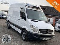 USED 2013 63 MERCEDES-BENZ SPRINTER 2.1 313 CDI MWB TEMPERATURE CONTROLLED FRIDGE VAN MWB, FRIDGE VAN, OVERNIGHT STANDBY, ONE OWNER, FDSH