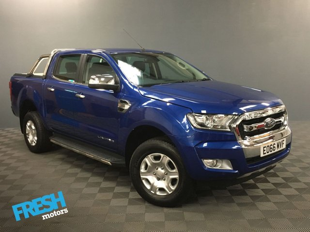 USED 2016 66 FORD RANGER 3.2 LIMITED 4X4 DCB TDCI AUTO  * 0% Deposit Finance Available