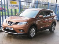 2016 NISSAN X-TRAIL 1.6 DIG-T ACENTA 5dr Pan roof Cruise Front & rear park £12500.00