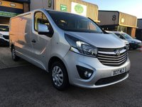 USED 2017 17 VAUXHALL VIVARO 1.6 L2H1 2900 SPORTIVE CDTI 120 BHP FSH, A/C, BLUETOOTH, P/SENSORS, FINANCE ARRANGED & VAUXHALL WARRANTY. Full service history - 2 Services - Last service on 23/08/2019 @ 51,185, A/C, E/W, Bluetooth, media connectivity, cruise control, DAB Radio, rear parking sensors, colour coded, Drivers airbag, factory fitted bulk head, Side loading door, long wheel base, Very Good Condition, remote Central Locking, Drivers Airbag, Steering Column Radio Control, Barn Rear Doors, spare key, 6 months premium Autoguard warranty & finance arranged